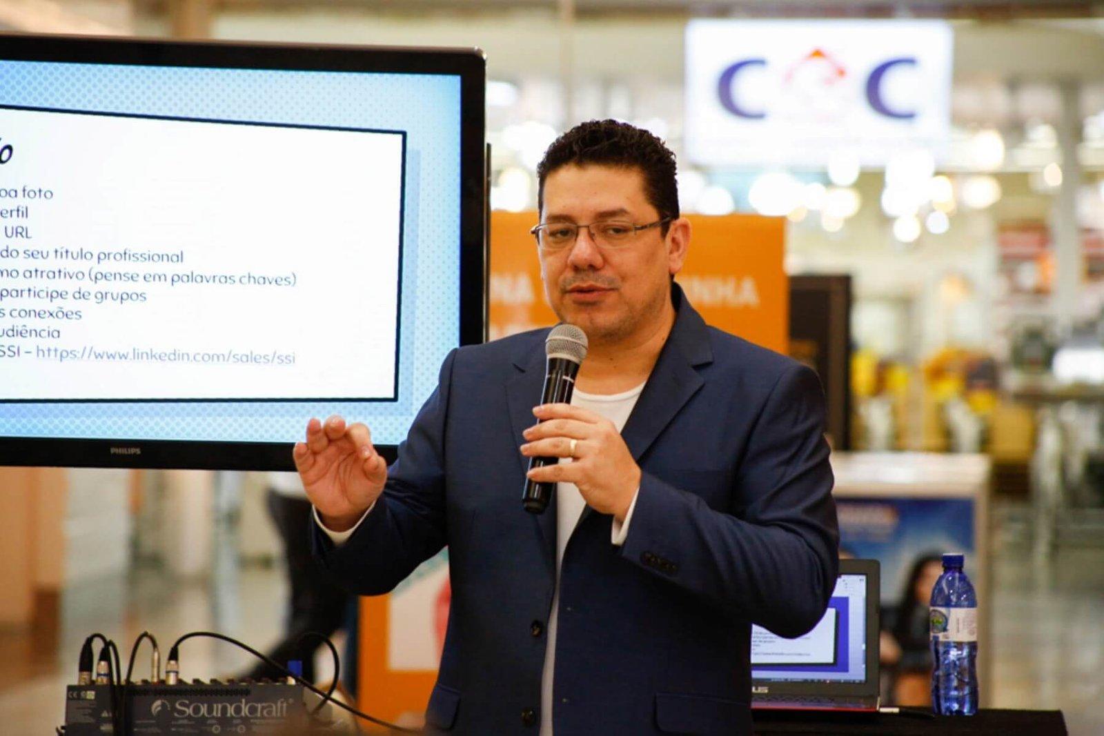 palestra linkedin para negócios e carreiras